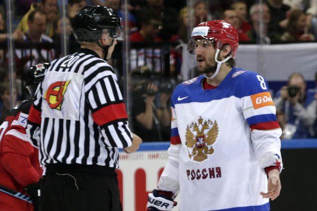Федерация хоккея РФ получила штраф за отказ сборной слушать гимн ...