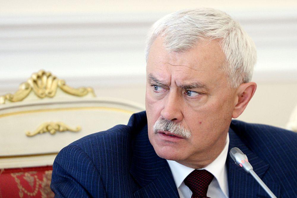 Губернатор Санкт-Петербурга Георгий Полтавченко – девятый.
