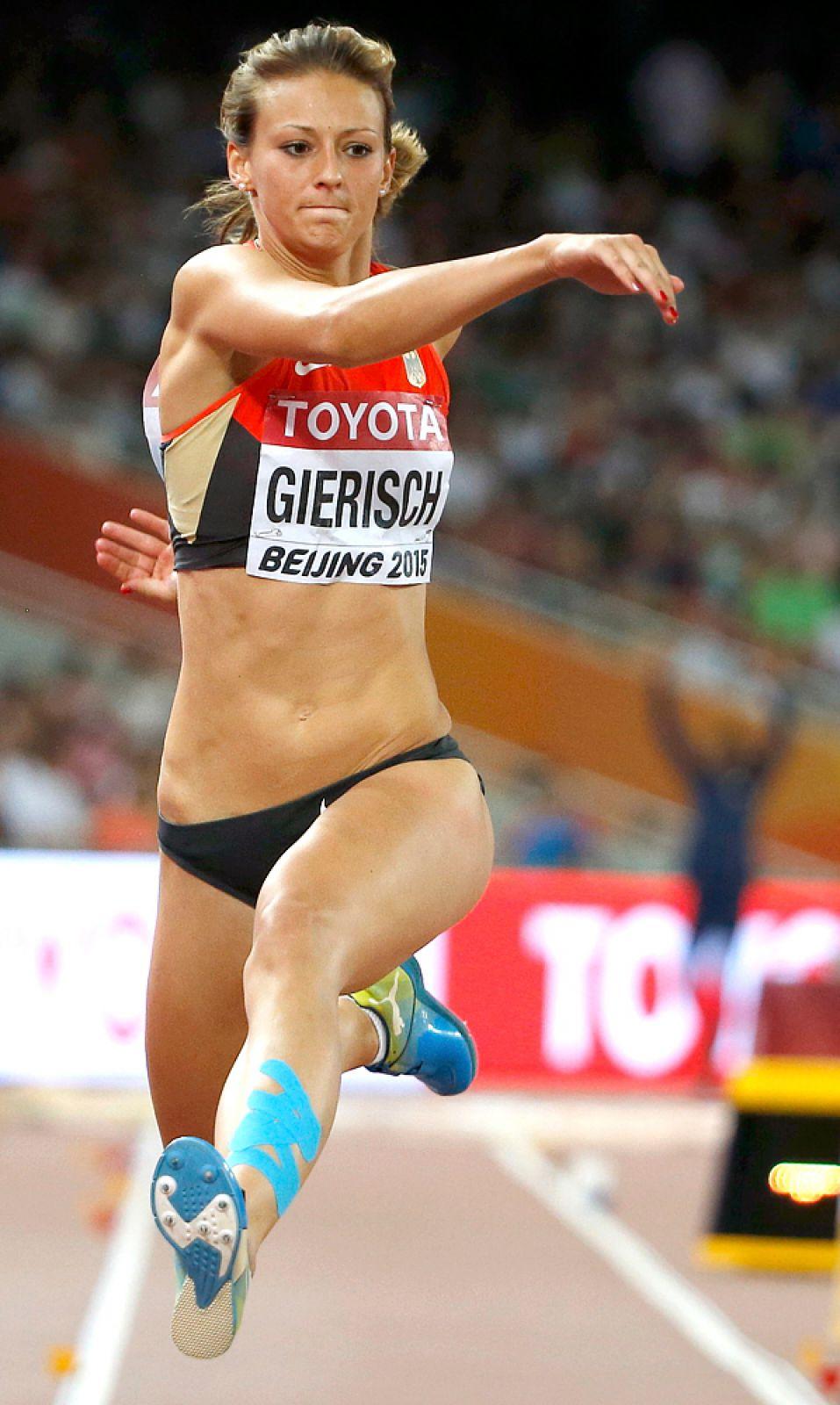 Кристин Гериш из Германии. Тройной прыжок.