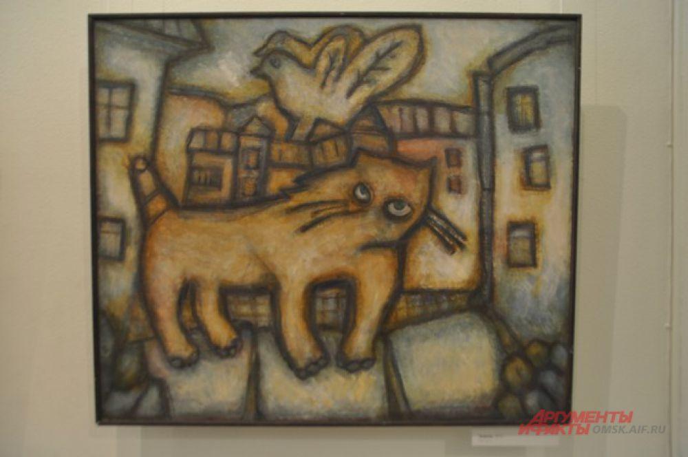 Выставка Геннадия Манжаева «Берегите старого кота».