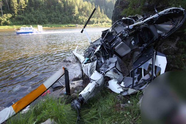 Крушение вертолета (архивное фото).