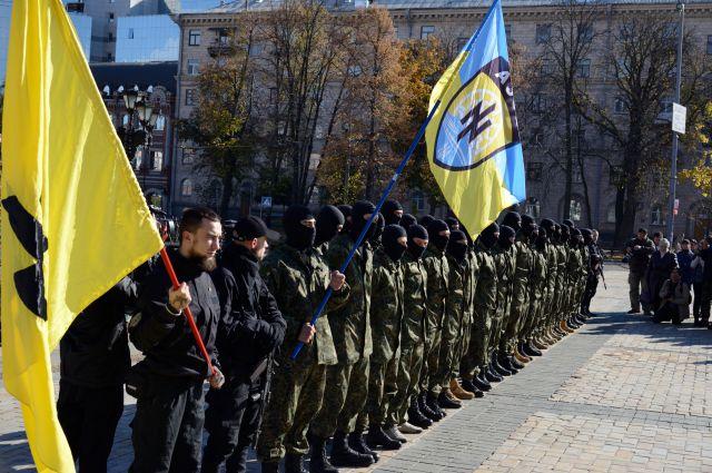 Бойцы добровольческого батальона «Азов»