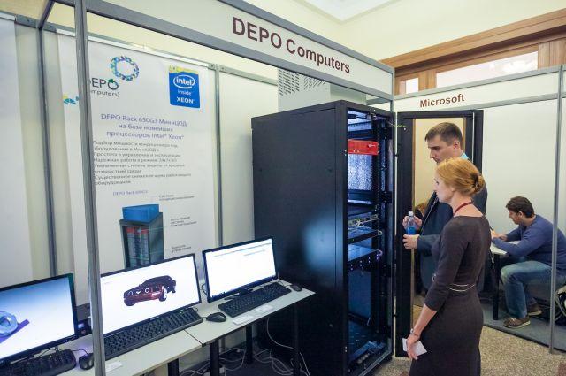 Фото с экспозиции DEPO Computers на VII Алтайском ИТ-Форуме