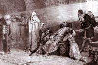 Смерть Бориса Годунова. Литография по оригиналу К.В. Лебедева. 1880 г.
