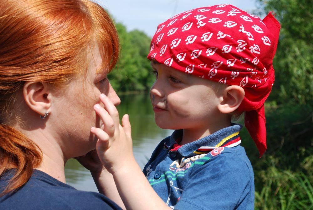 Ваня и его мама.
