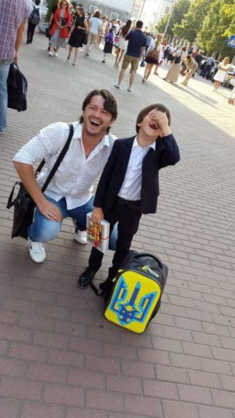 Сергей Притула с сыном Димой