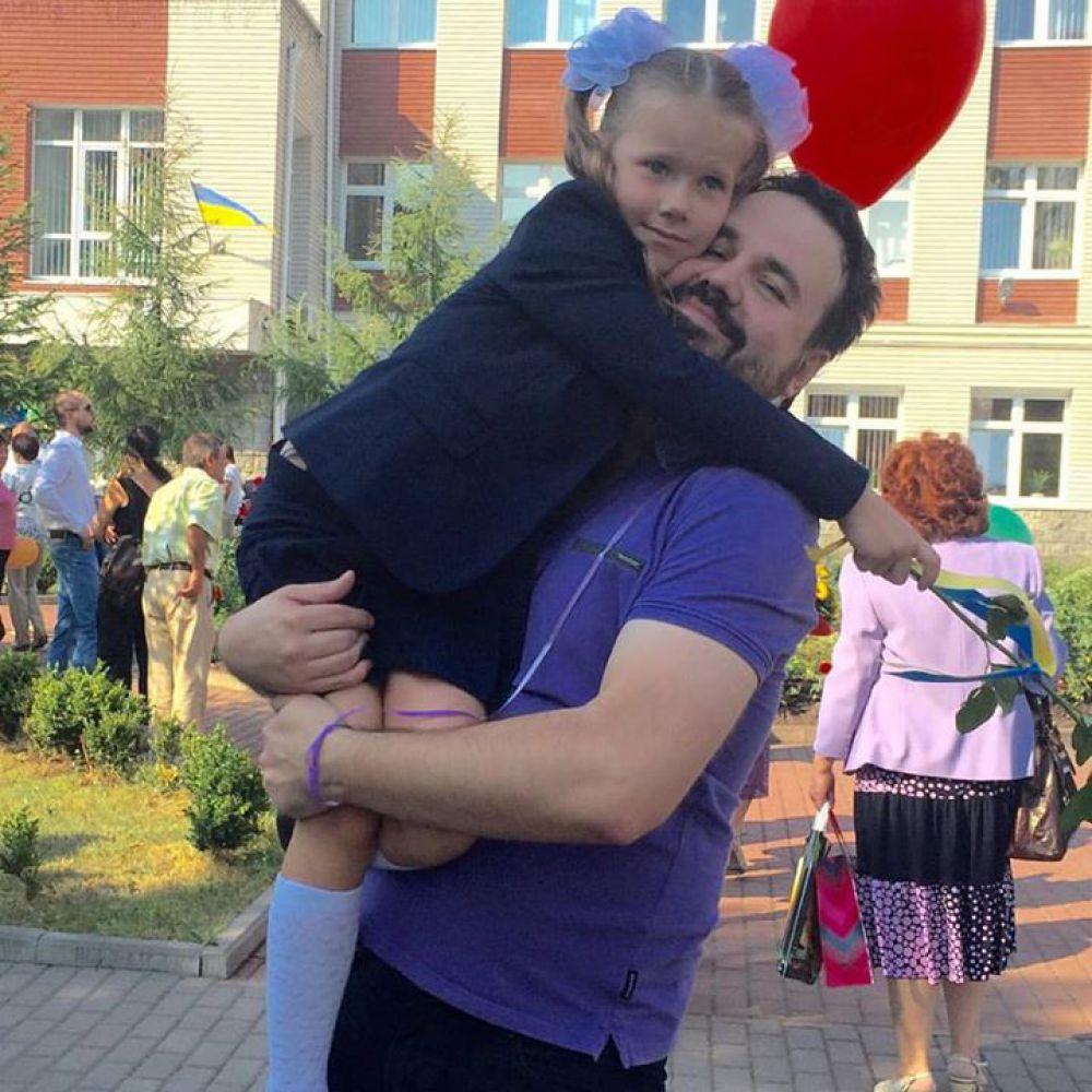 Антон Лирник с дочерью Соней