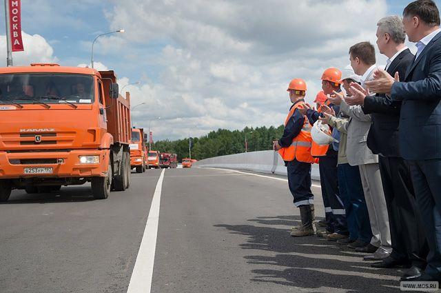 Открытие движения по эстакаде на пересечении МКАД и Ленинского проспекта.