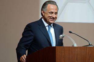Министр спорта РФ Виталий Мутко на внеочередной конференции Российского футбольного союза в Москве. 2 сентября 2015 г.