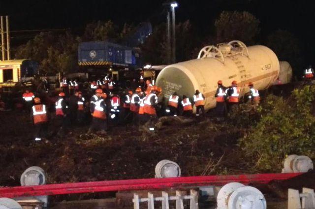 Железнодорожная авария в Белоярском ГО ликвидирована