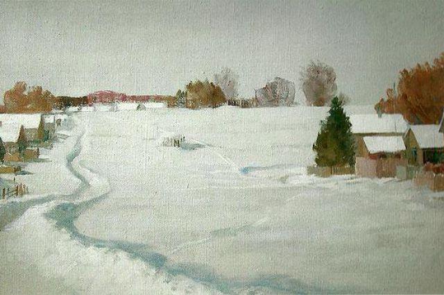 Зима в Петровском, А. Шлеюк.