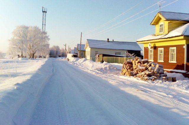 Окраина Онеги зимой