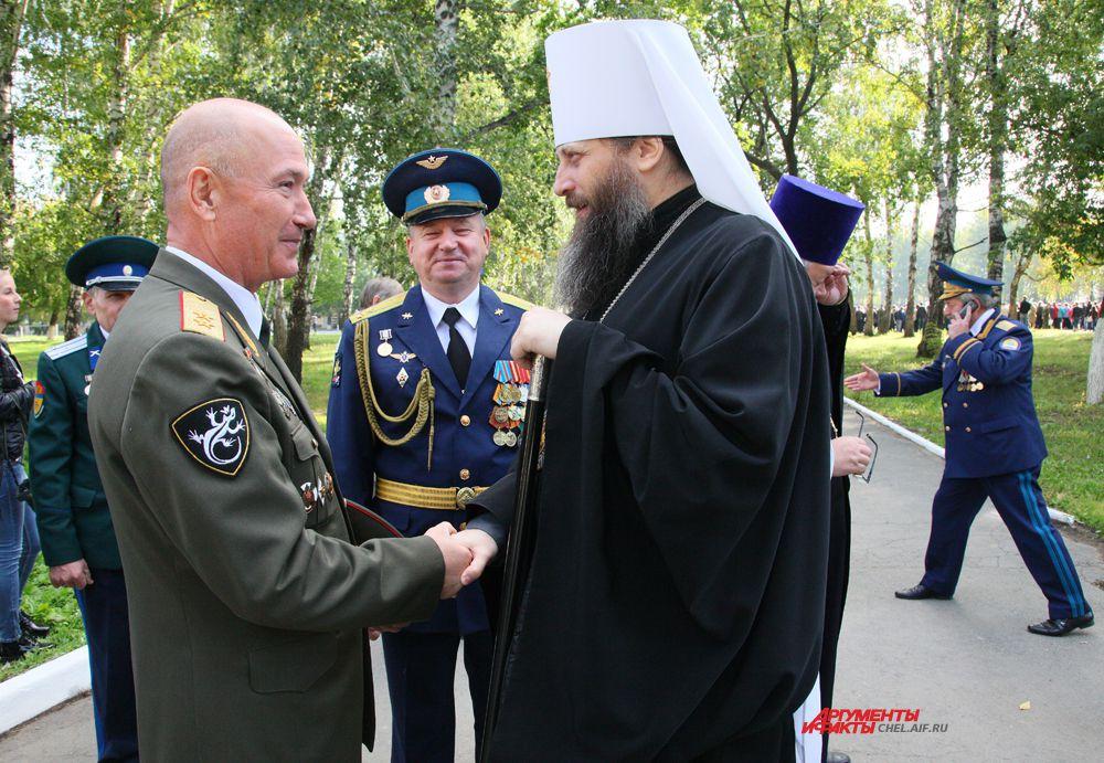 Встреча  митрополита Челябинского и Златоустовского  Никодима с командованием
