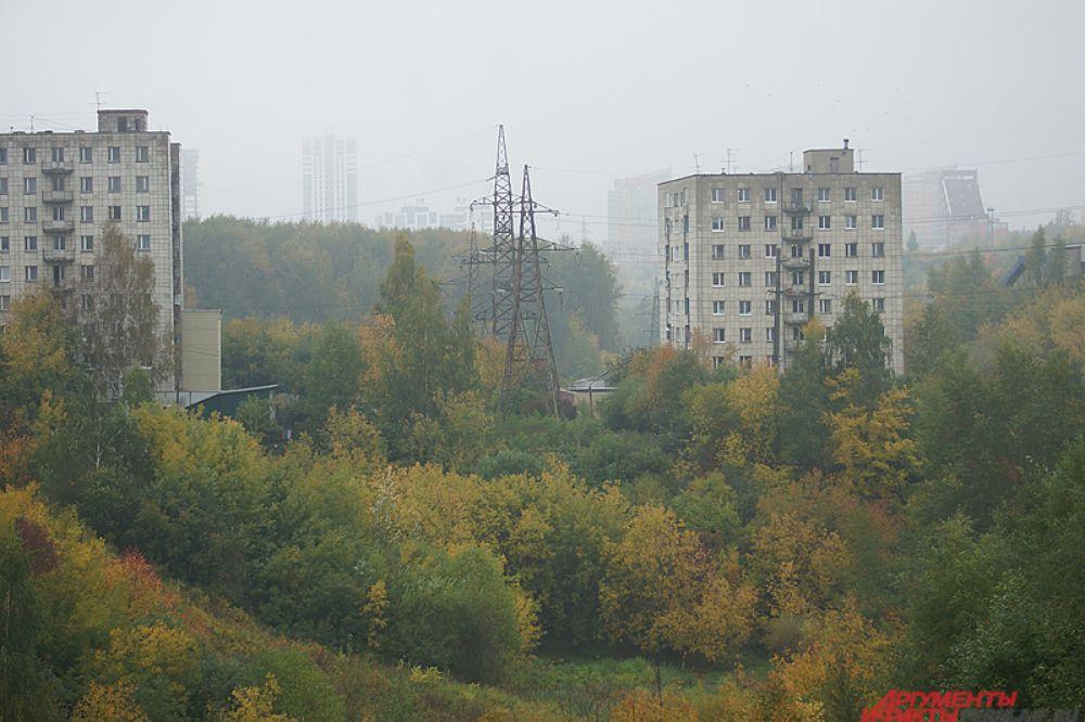 Город полностью заволокло белой дымкой.