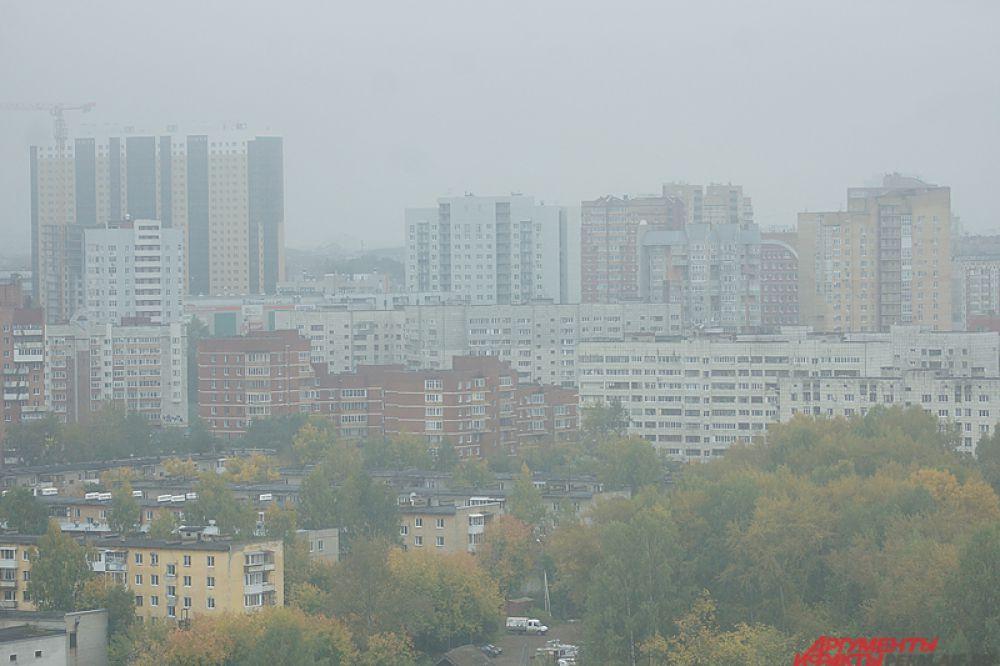 Ближе к полудню туман начал рассеиваться.