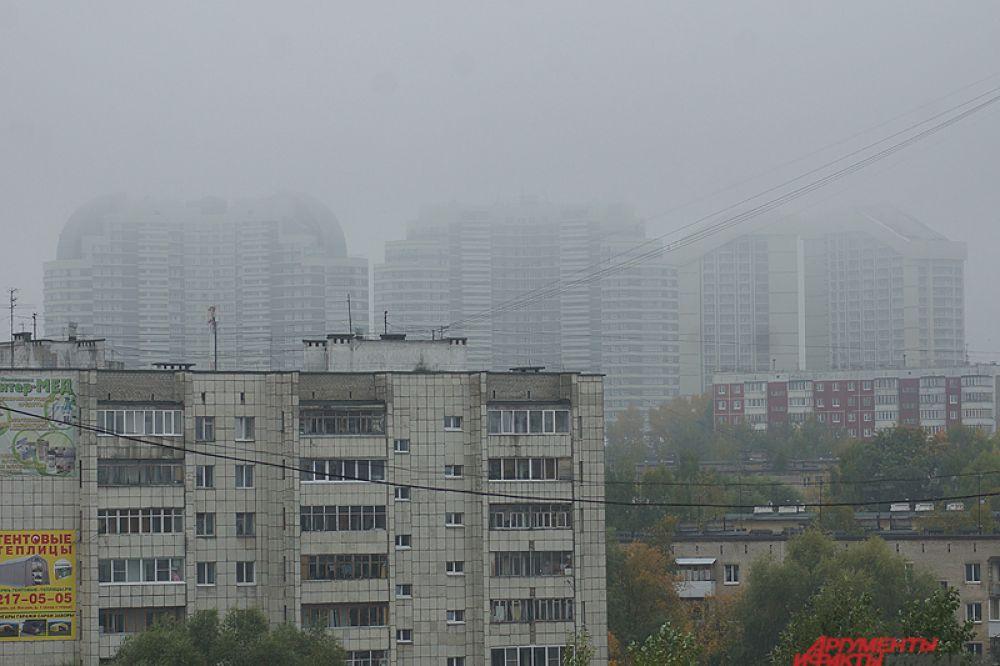Утро понедельника «порадовало» пермяков сильным туманом.