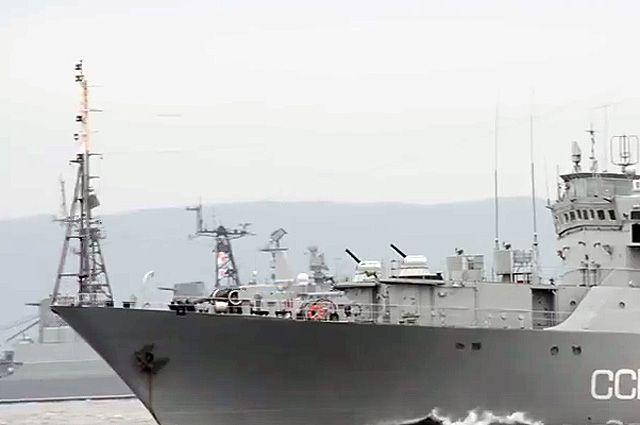 Разведывательный корабль ВМФ России.