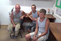 Задержанные десантники ВС Украины.