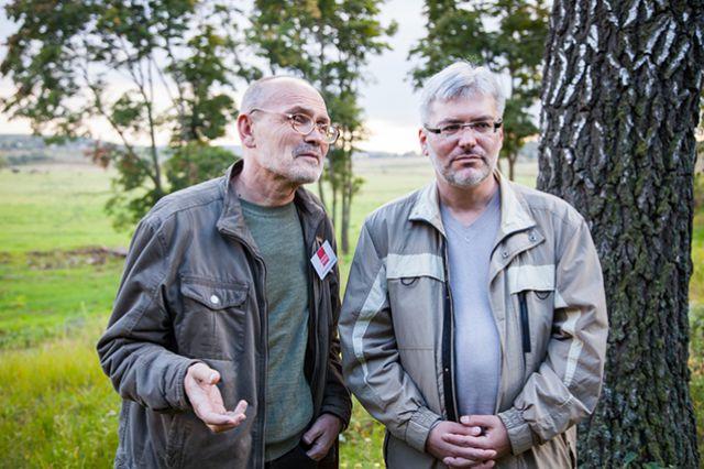 Евгений Водолазкин (справа).