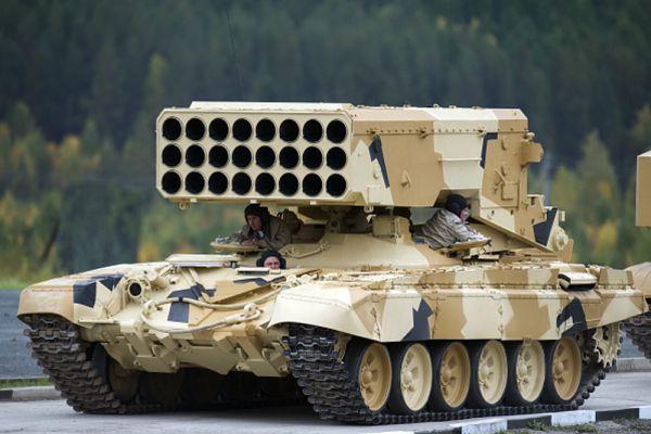 Тяжелая огнеметная система ТОС-1 «Буратино».