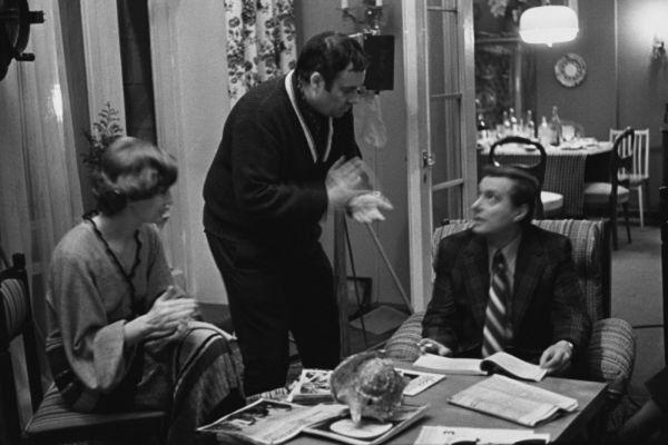 Эльдар Рязанов на съемках фильма «Служебный роман». 1977 год.