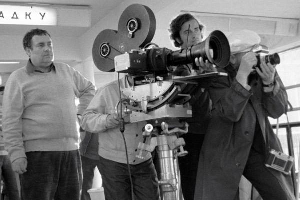 Эльдар Рязанов на съемках советско-итальянского фильма «Приключение итальянцев в России». 1973 год.