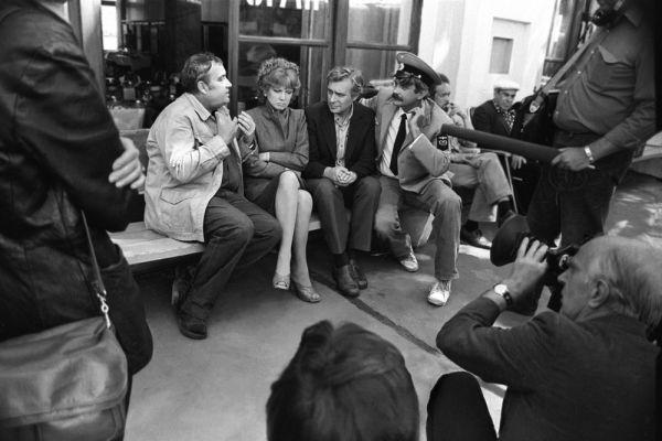 Съемки фильма «Вокзал для двоих». 1982 год.