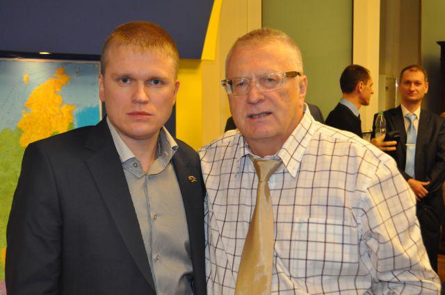 Евгений Ребякин со своим партийным лидером Владимиром Жириновским.