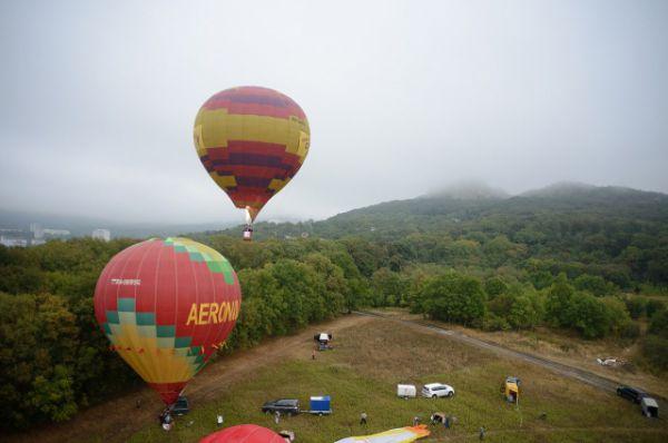 Полет шаров над Железноводском.