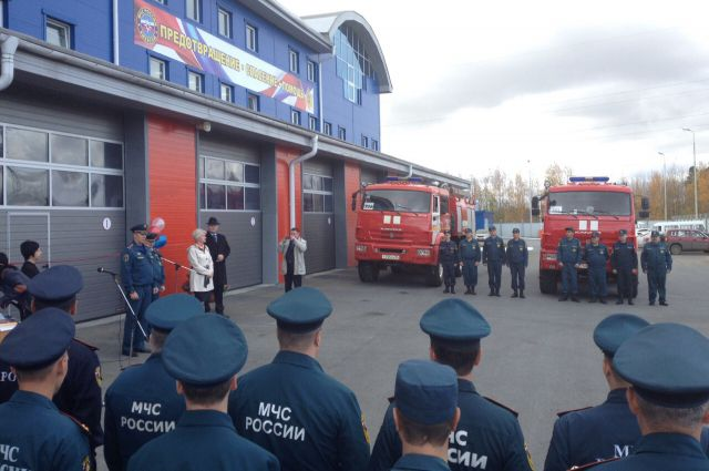 В Нижневартовском районе открылось современное пожарное депо