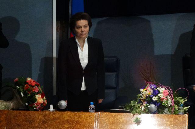Наталья Комарова сразу после избрания на должность губернатора Югры.