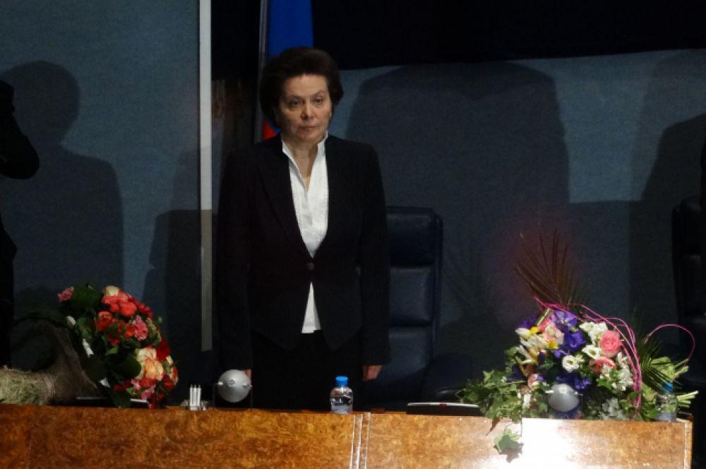 Наталья Комарова сразу после избрания.