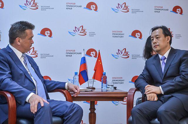 Во время двусторонней встречи.