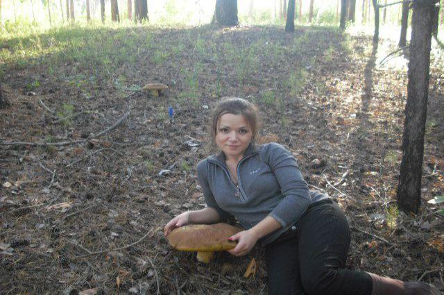 Жительница Новосибирска нашла огромный гриб