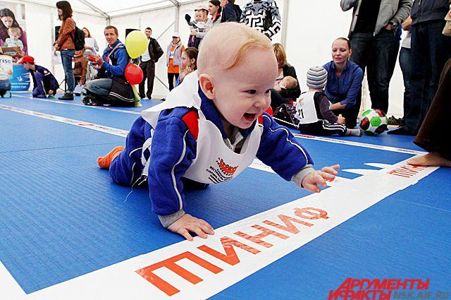 Малыши проявили спортивный характер.