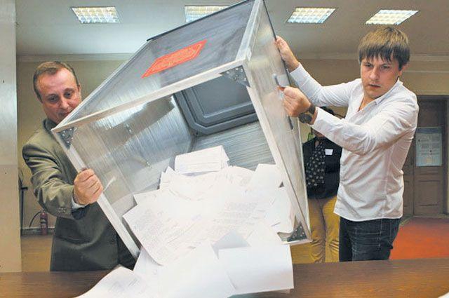 На выборы пришло около 30% избирателей.