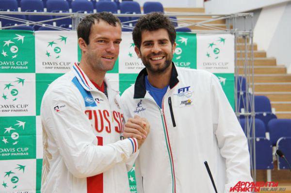 Участники первой игры: Теймураз Габашвили и Симоне Болелли.