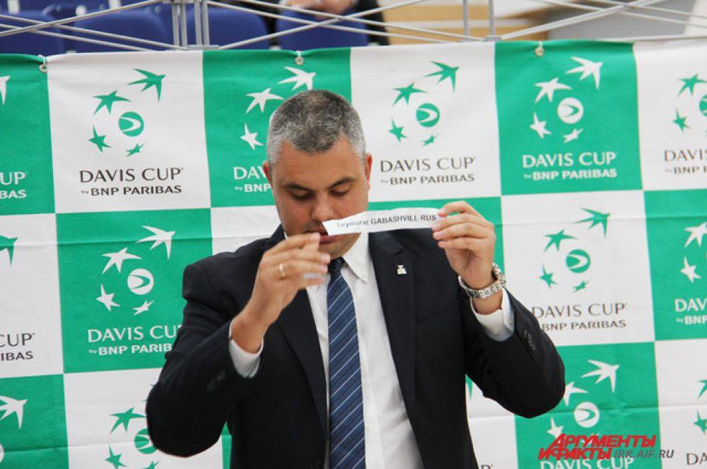Жребий показал, что Теймураз Габашвили будет играть первым.