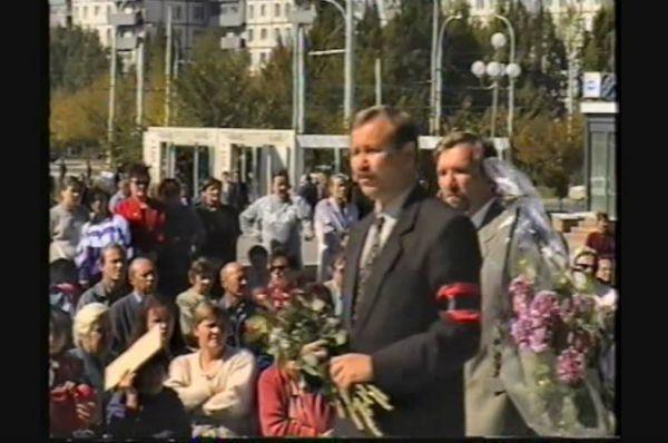Мэр взорванного города Сергей Горбунов и его заместитель Игорь Гуськов.