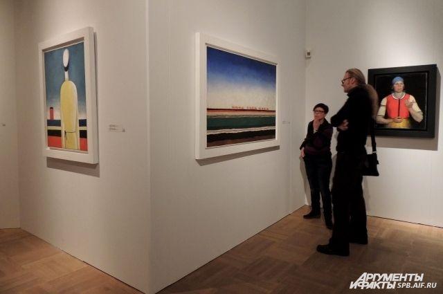 Выставка Малевича в Русском музее.