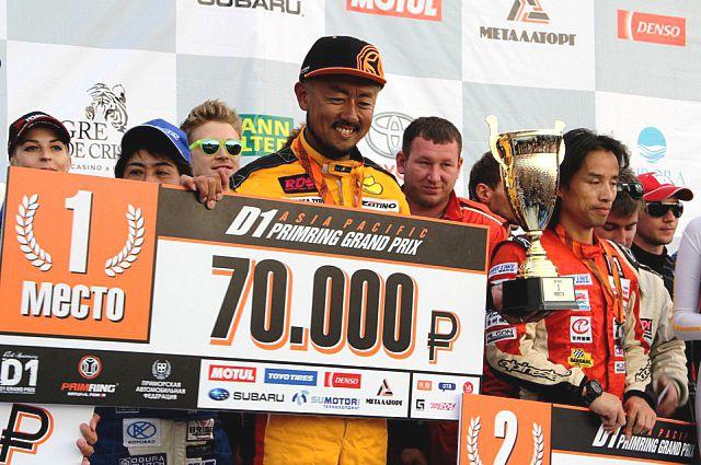 Победитель гонки - Тецуя Хибино.