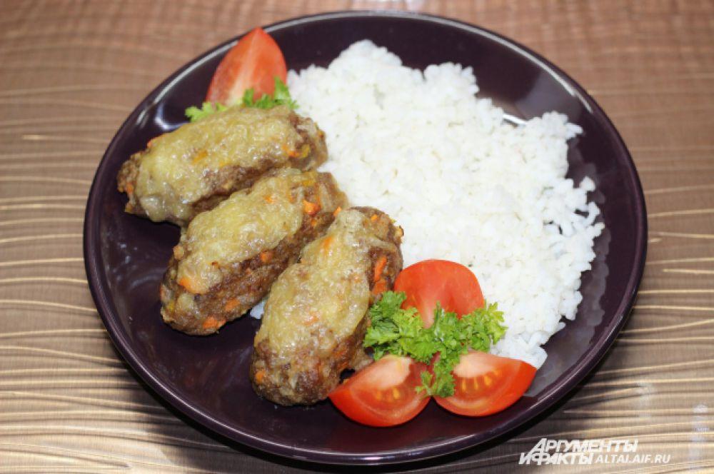Лучше всего на гарнир к этому блюду подойдет рис. Приятного аппетита!