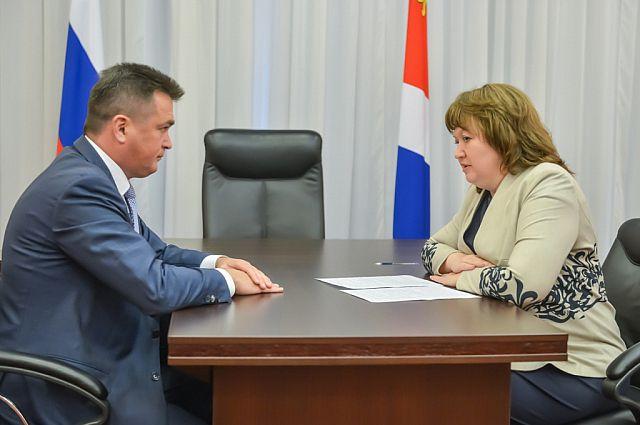 Рабочая встреча с губернатором.