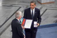Присуждение в 2009 году Нобелевской премии мира в то время лишь начинавшему свой первый президентский срок главе США Бараку Обаме.