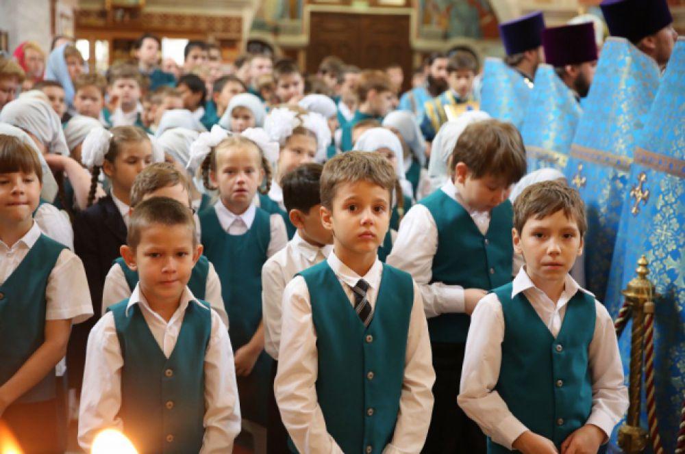 Учащиеся православной гимназии.