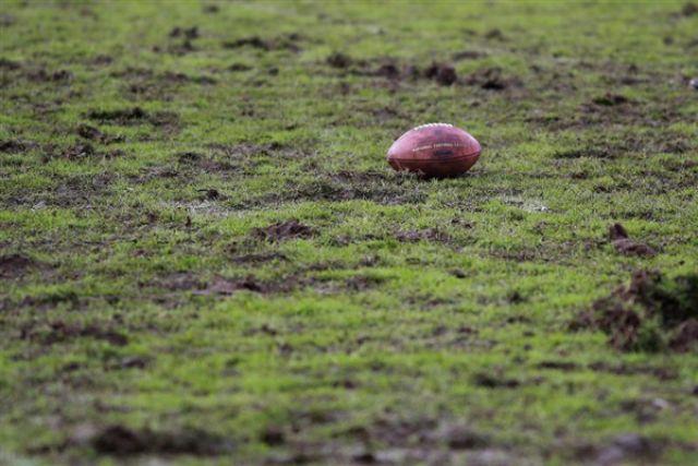 Регбийный мяч.