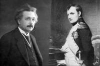 Альберт Эйнштейн и Наполеон Бонапарт. Коллаж.