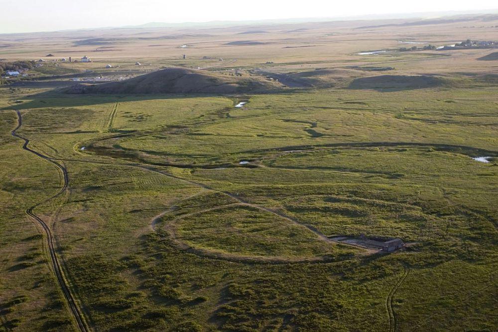 Панорама окрестностей Укрепленного поселения Аркаим.