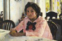 Фрагмент картины «Девочка с персиками» художника Валентина Серова.