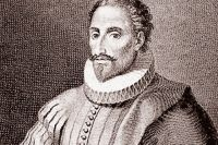 Поэт Мигель де Сервантес Сааведра.